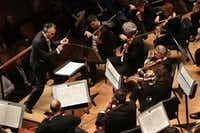 Guest conductor Jun Markl leads the Dallas Symphony Orchestra at the Meyerson Symphony Center.(Jason Janik/Special Contributor)