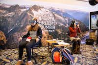 Using Oculus Rift technology, viewers are immersed into British Columbia's winter sports via interactive 3-D video.(William Au/Destination BC)