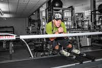 World Cup alpine ski racer and two-time Olympic medalist Andrew Weibrecht, honing skills on a SkyTechSport Simulator.(SkyTechSport)