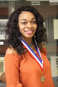 Lancaster High School student Jada Murray joined team members from China, England, Australia and India to design a livable environment on Venus.(Lancaster ISD)