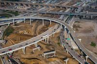 <p>One of state and local transportation planners' underfunded ideas for easing traffic congestion in Dallas is the Canyon/Interstate 30 project, pictured.</p>(Ashley Landis/Staff Photographer)