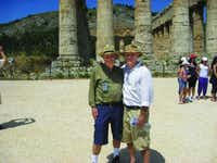 Daniel Mendelsohn and his father, Jay, in Sicily.(Knopf)