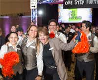 Gaylord Texan Resort & Convention Center workers, which the company calls its STARS, celebrate at the company's One Step Further STAR Rally.(Gaylord Texan)