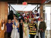 Ambit Energy workers show off their Halloween costumes.(Ambit Energy)