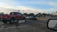 <p>The crash occurred just before 2 p.m. in the 3900 block of northbound Central Expressway, near Parker Road.</p>(Kyle Martin/Staff)