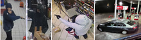 Dallas police are looking for three people suspected of robbing gas stations around Dallas at gunpoint. They fled in a stolen Volkswagen Jetta.(Dallas Police Department)