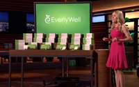 "<span style=""font-weight: normal;"">EverlyWell founder Julia Cheek presents her medical testing kits to investors on the ABC show <i>Shark Tank. </i></span>(ABC)"