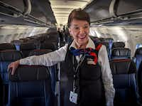 American Airlines flight attendant Bette Nash has been working in the clouds for 60 years. (Bill O'Leary/The Washington Post)