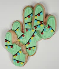 Shalise Quinlan earned second place in the Texas category for her Dr Pepper Cherry Christmas Cactus Sugar Cookies.(Andy Jacobsohn/Staff Photographer)