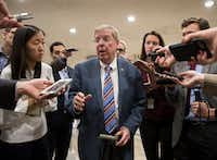 Sen. Johnny Isakson, R-Ga., a member of the tax-writing Senate Finance Committee, got the airline provision included in the Senate tax bill. (J. Scott Applewhite/The Associated Press)
