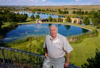 This photo taken May 30, 2017, shows businessman T. Boone Pickens near The Lake House to The Lodge on his Mesa Vista Ranch in the panhandle of Texas. (Tom Fox/Staff Photographer)