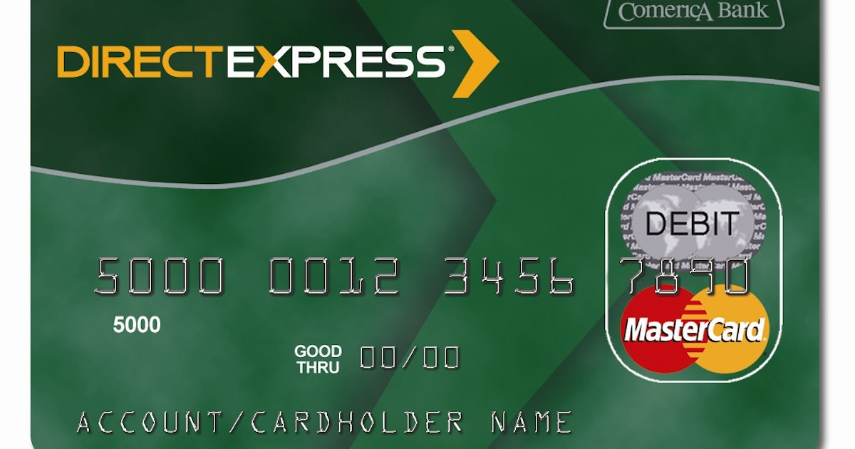 Direct express a us government program that puts for Comerica business credit card