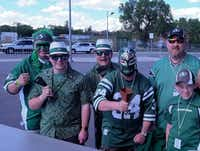 From Hawaiian shirts to Mexican wrestling masks, there's no shortage of costumes that appeal to fans of the Saskatchewan Roughriders, the most beloved team in the Canadian Football League.(Jim Byers/Special Contributor)
