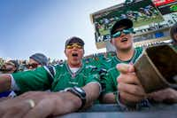 Saskatchewan Roughriders fans are acknowledged as the most enthusiastic fans in the Canadian Football League, often traveling hundreds of miles to get to their games. (Greg Huszar)