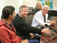 Doctors Giuliano Testa, E. Colin Koon, Robert T. Gunby and Liza Johannesson, left to right, are pictured at Baylor University Medical Center, which became the first in the U.S. to have a successful attempt a uterine transplants using living donors.(Louis DeLuca/Staff Photographer)