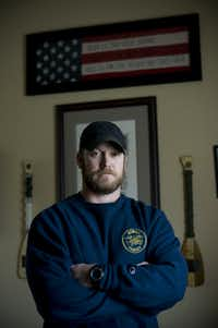 "Chris Kyle, a decorated Navy SEAL and author of the best-selling ""American Sniper"" who was killed by a troubled combat veteran March 9, 2012. (Brandon Thibodeaux/The New York Times)"