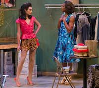 Chris Herrero (left) as Miss Rexy shares a scene with Walter Lee as Miss Tracy in <i>The Legend of Georgia McBride.</i>(Robert W. Hart/Special Contributor)