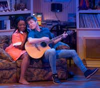 Sky Williams as Jo and Kyle Igneczi as her husband, Casey, are part of the production at the Kalita Humphreys Theater. (Robert W. Hart/Special Contributor)
