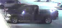 The pickup truck seen in surveillance footage(SMU Police Department)