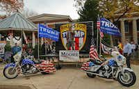 Bikers for Trump rally in support of Alabama Chief Justice and U.S. Senate candidate Roy Moore on Sunday at the Jackson County Courthouse Square in Scottsboro, Ala. After speaking out against Moore's opponent and the women who have accused Moore of sexual misconduct, President Trump on Monday explicitly endorsed Moore in the special election to fill the seat vacated when Jeff Sessions became attorney general.(The Associated Press/Bob Gathany)