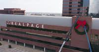 RealPage revived the one ton wreaths that Nortel Networks used to mount on the building.(RealPage)