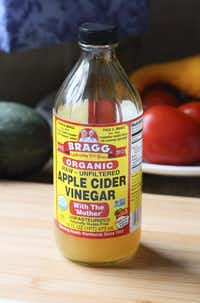 Many people drink apple cider vinegar each day.