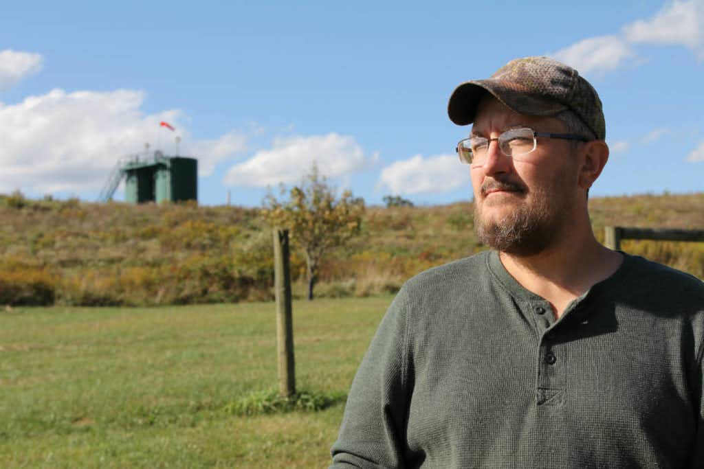 The two wells drilled on Bryan Latkanich's property are among 1,655 that have been hydraulically fractured in Washington County in Pennsylvania since 2004.(InsideClimate News/Anna Belle Peevey)