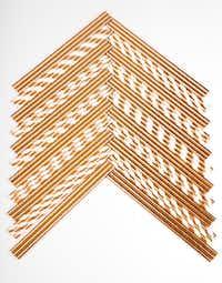 Copper colored paper straws(Ashley Landis/Staff Photographer)