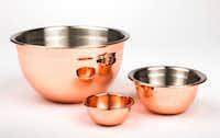 Copper nesting bowls(Ashley Landis/Staff Photographer)