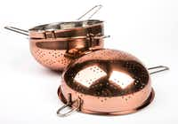 Copper colanders from TJ Maxx (Ashley Landis/Staff Photographer)