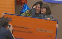 Gabriela Malkomes and her mother, Luciana Malkomes, celebrate winning $15,000 in a contest sponsored by Uncle Ben's.(KXAS-TV (NBC5))