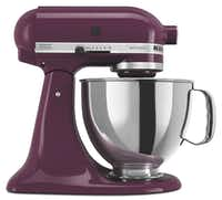 Caption: Mix it up: Add a pop of color to counters with KitchenAid's Artisan stand mixer.(KitchenAid)