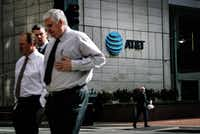 AT&T's headquarters in downtown Dallas.(2017 File Photo/The New York Times)