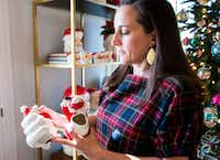 Caroline Nelson talks about her collection of vintage Christmas ornaments and decorations.(Ashley Landis/Staff Photographer)