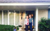 Nancy McCall (left), Nanette Light's grandmother, and Light stand outside McCall's home in Norman, Okla., in October 2016. (Provided by Nanette Light)