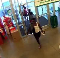 Surveillance footage from a Dollar Tree that reportedly shows the teen suspected of assaulting a woman.(Dallas Police Department)