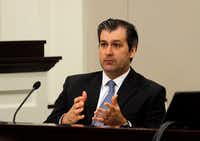 On Nov. 29, 2016, former North Charleston police Officer Michael Slager testified during his murder trial in Charleston, S.C. Slager was sentenced Thursday to 20 years in prison for the 2015 fatal shooting of unarmed black motorist Walter Scott.(Grace Beahm/Post and Courier)