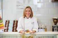 Chef Andrea Meyer of Bisous Bisous Patisserie in Dallas.(Chelsea Conway)