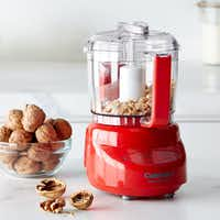 Cuisinart Elite Mini Prep Food Processor, 3-Cup in red. (Williams-Sonoma)