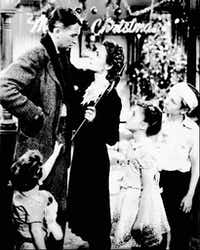 James Stewart and Donna Reed in <i>It's a Wonderful Life.</i>(NBC)