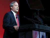 Texas Attorney General Ken Paxton, who has been under indictment for securities fraud since 2015, speaks during the 2016 Texas Republican Convention at the Kay Bailey Hutchison Convention Center in Dallas.(Vernon Bryant/2016 File Photo)