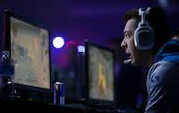 Ricky Stacey, of the Cloud 9 eSports team, competes against the Mindfreak eSports team during the Call of Duty World League eSports tournament in March at the Fort Worth Convention Center.(Jae S. Lee/2017 File Photo)