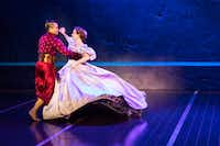 Jose Llana and Laura Michelle Kelly as the King and Anna in <i>The King and I, </i>the Tony Award-winning Lincoln Center revival of the Rodgers and Hammerstein classic, presented by AT&T Performing Arts Center at Winspear Opera House Dec. 19-31, 2017.(Matthew Murphy)