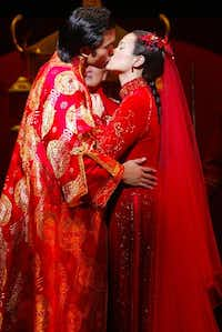 Jose Llana and Lea Salonga in the 2002 Broadway revival of 'Flower Drum Song.' Llana and Salonga performed the roles for Dallas Summer Musicals in 2003.(Credit:  Joan Marcus)