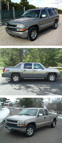 The Mesquite Police Department released photos of vehicles thought to be similar to the suspect vehicle in Saturday's fatal hit-and-run.<br>(Mesquite Police Department<br>/Mesquite Police Department<br>)