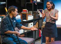Franco Gonzalez and Melisa Pereyra star in Dallas Theater Center's regional premiere of Tanya Saracho's <i>Fade </i>at the Wyly Theatre's Studio Theatre.(Robert W. Hart/Special Contributor)