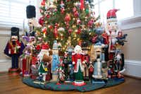 The decorating doesn't stop at the trees. Jones also fills the skirts with fancy and whimsy, using nutcrackers, packages and more to add even more interest. (Allison Slomowitz/Special Contributor)
