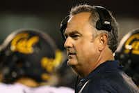 Head coach Sonny Dykes of the California Golden Bears looks on during the third quarter of a game against the San Diego State Aztecs.(2016 File Photo/Getty Images)