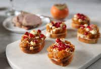 Persimmon Goat Cheese Crostini (Rose Baca/Staff Photographer)