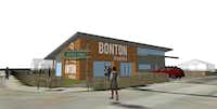 Renderings of Bonton Market, planned in front of Bonton Farms on Bexar Street in southern Dallas(Bonton Farms)
